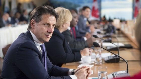 """Conte: """"Bilancio del G7 molto positivo"""""""