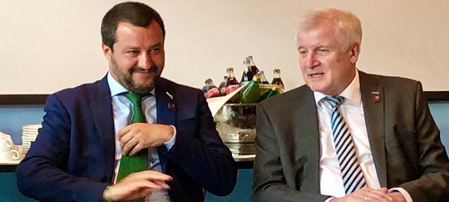 A Innsbruck sovranisti senza intesa: Salvini e Seehofer in disaccordo sui movimenti secondari