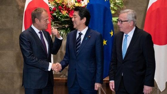 Ue-Giappone: firmato accordo su commercio