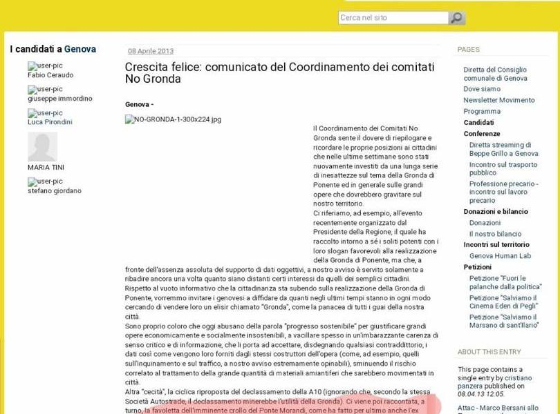 """Beppe Grillo, la Gronda di Genova e la """"favoletta"""" del crollo del Ponte Morandi"""