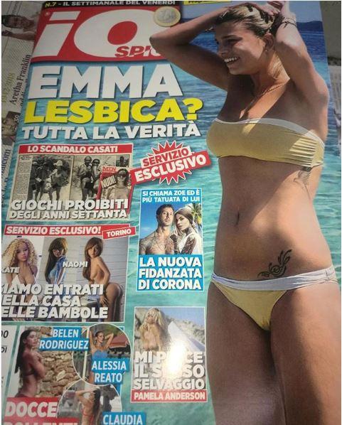 """""""Emma lesbica?"""" L'ira della Marrone contro la rivista di gossip: """"Fate schifo"""""""