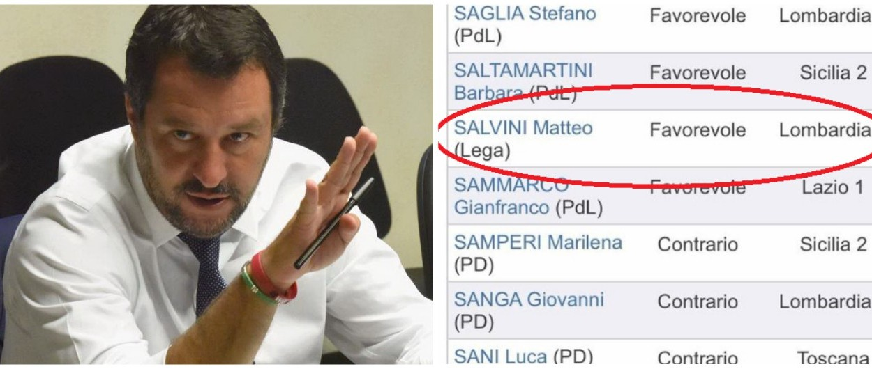 "Salvini nel 2008 votò il ""Salva Benetton""."