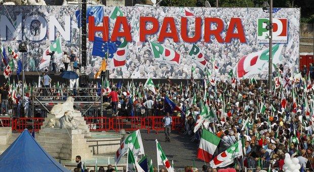 Il Pd scende in piazza contro il governo gialloverde