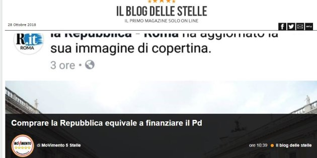 """""""Comprare La Repubblica equivale a finanziare il Pd. Meglio darli in beneficenza"""""""