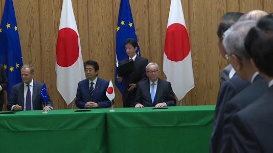 Entra in vigore l'accordo Ue-Giappone: sfida a Usa e Cina