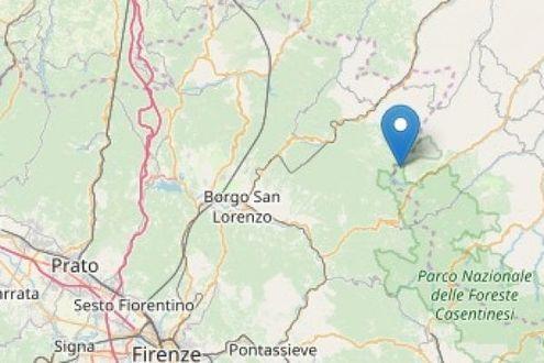 Terremoto di magnitudo 3.3 tra Toscana e Romagna