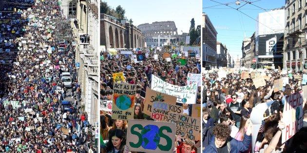 Da Milano a Roma, da Torino a Napoli: migliaia di studenti in piazza per la battaglia per il clima