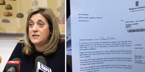 Scandalo sanità, la Presidente Pd dell'Umbria Catiuscia Marini si è dimessa