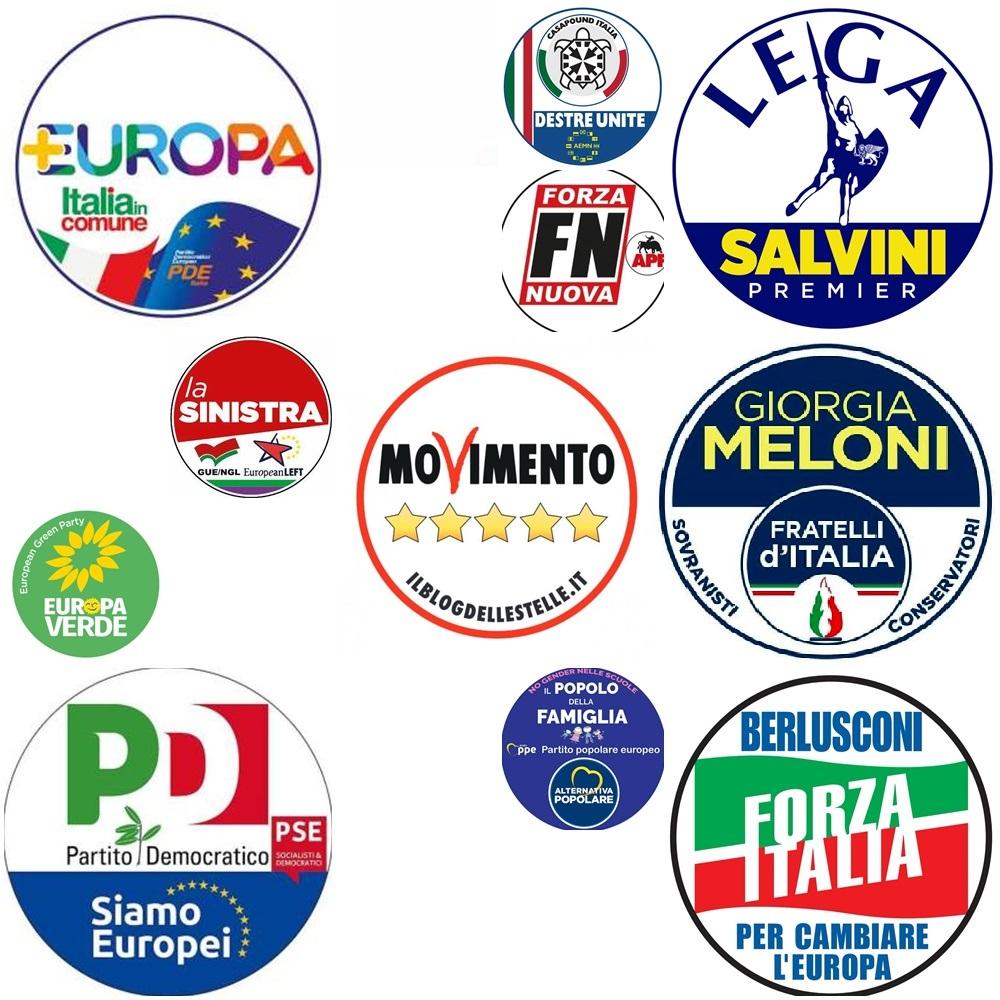 Partiti che si presentano alle europee 2019