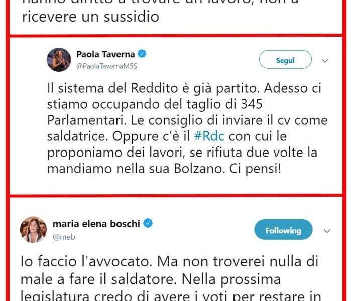 Il litigio social tra Maria Elena Boschi e Paola Taverna