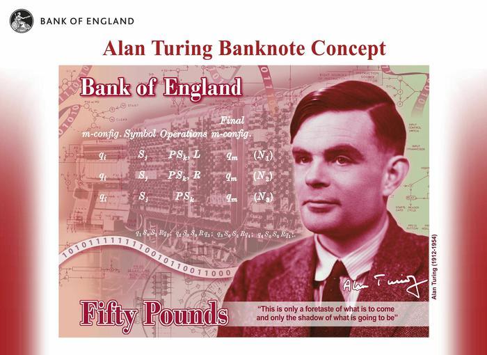 Turing sulla nuova banconota da 50 sterline