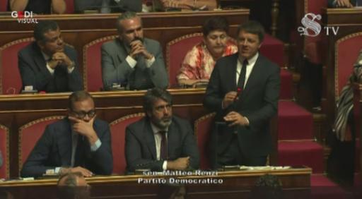 Crisi di governo, il discorso di Renzi