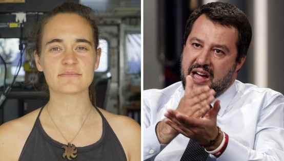 Salvini indagato per diffamazione dopo la querela di Carola Rackete
