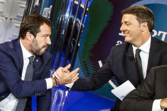 Duello televisivo Salvini Renzi