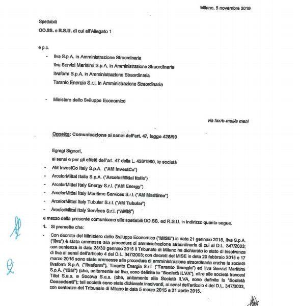 ArcelorMittal avvia la procedura per restituire ai commissari gli stabilimenti dell'ex Ilva