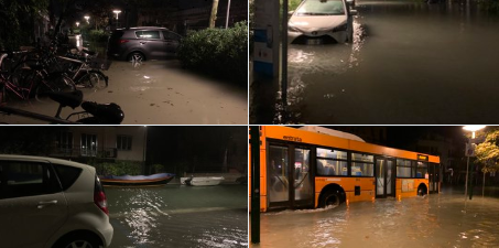 Marea eccezionale a Venezia, emergenza in Calabria e Puglia