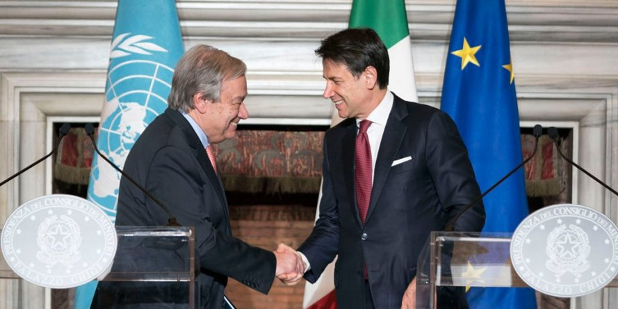 Italia-Onu. Conte incontra Guterres