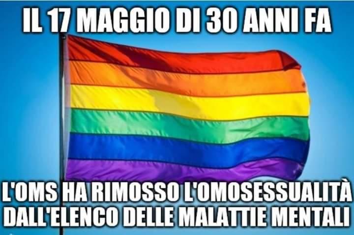 Giornata mondiale contro l'Omofobia - 30 anni fa l'OMS rimuoveva lì'omosessualità dalla lista delle malattie mentali
